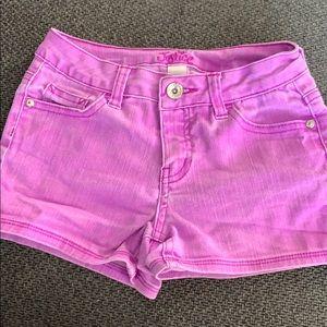 Purple justice shorts